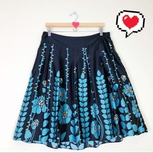 Mossimo Floral Flare Pleated Skirt